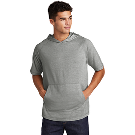 ST404 Sport-Tek ® PosiCharge ® Tri-Blend Wicking Short Sleeve Hoodie (4509033922638)