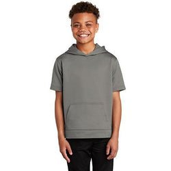 YST251 Sport-Tek ® Youth Sport-Wick ® Fleece Short Sleeve Hooded Pullover (4512398803022)