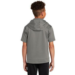 YST251 Sport-Tek ® Youth Sport-Wick ® Fleece Short Sleeve Hooded Pullover