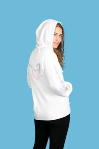 The Girlfriend White Full Zipper Hoodie