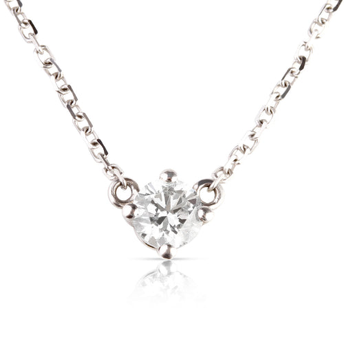 North Star 100% Conflict-Free White Lab Solitaire Diamond Necklace