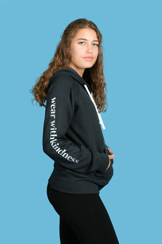The Girlfriend Charcoal Grey Full Zipper Hoodie