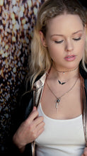 Black Infinity Diamond Angel Wing Necklace #AngelLoveXSALT