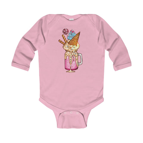 Hello Milkshake! Long Sleeve Onesie