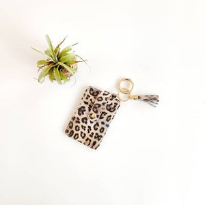 Leopard Key Ring Wallet - Inward Beauty Boutique