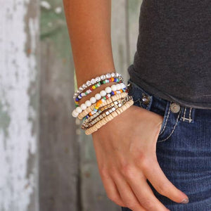 Boho Multi-colored Bracelet Set - Inward Beauty Boutique