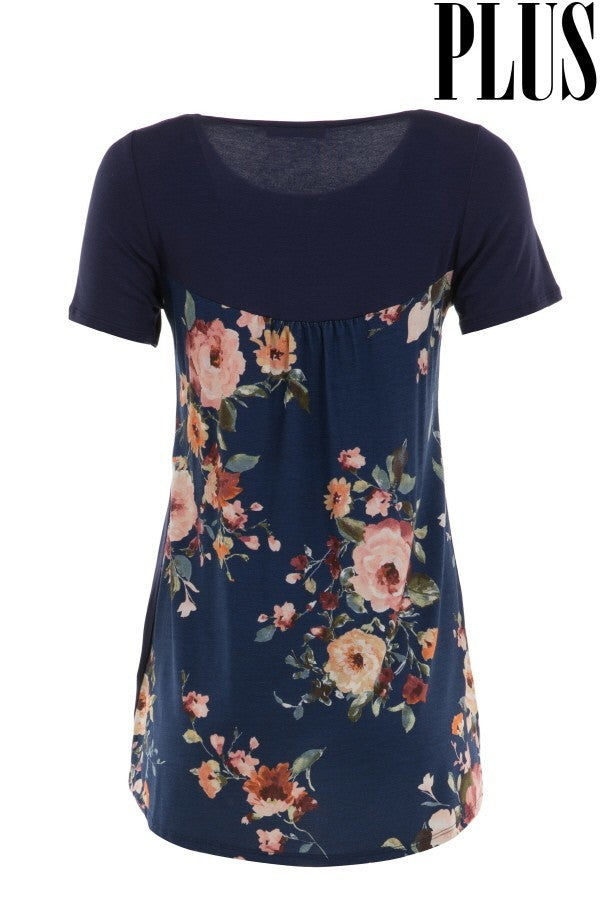 Floral Top {Curvy} - Inward Beauty Boutique