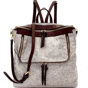 Two Tone Backpack - Inward Beauty Boutique