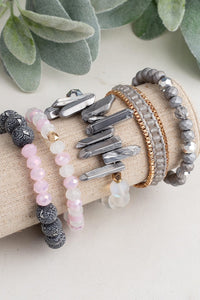 Make a Statement Grey Bracelet Set - Inward Beauty Boutique