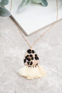 Leopard Teardrop Necklace - Inward Beauty Boutique