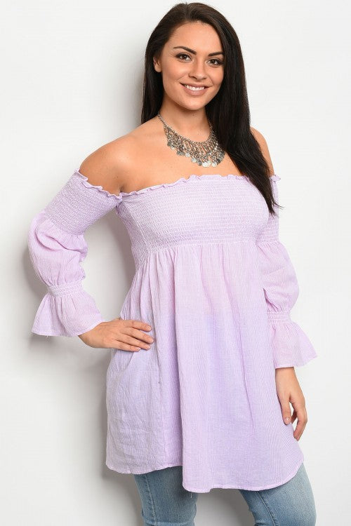 Pink Pinstripe Top - Inward Beauty Boutique