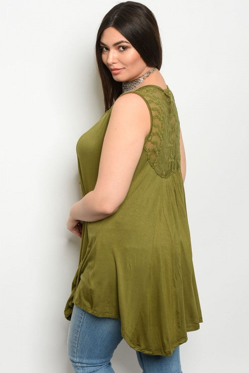 Olive You Tank (Curvy) - Inward Beauty Boutique