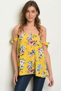 Sunshine on my Mind Top (Yellow) - Inward Beauty Boutique