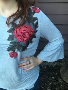Sophia's Bell Sleeve - Inward Beauty Boutique