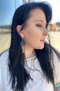 Ombré Feather Leather Earrings - Inward Beauty Boutique