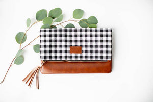 Buffalo Plaid Fold Over Clutch - Inward Beauty Boutique