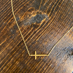 Side Cross Gold - Inward Beauty Boutique