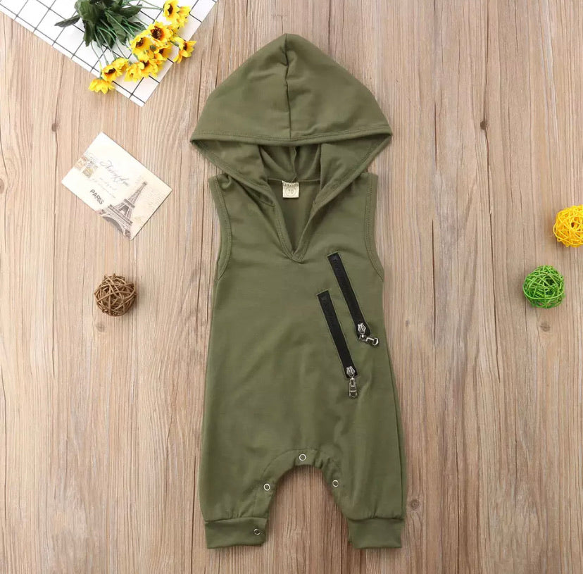 Olive Romper - Inward Beauty Boutique