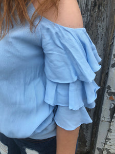Sky Ruffle Top - Inward Beauty Boutique
