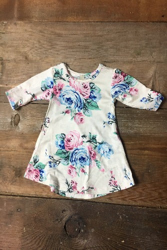 Cream Floral Top - Inward Beauty Boutique