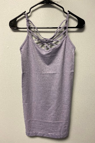 Ash Lavender Twisted Tank - Inward Beauty Boutique