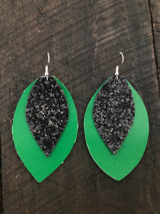 School Spirit Leather Earrings - Inward Beauty Boutique