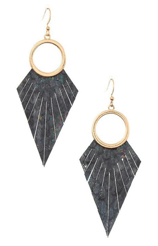 Black Fringe Drop Earrings - Inward Beauty Boutique