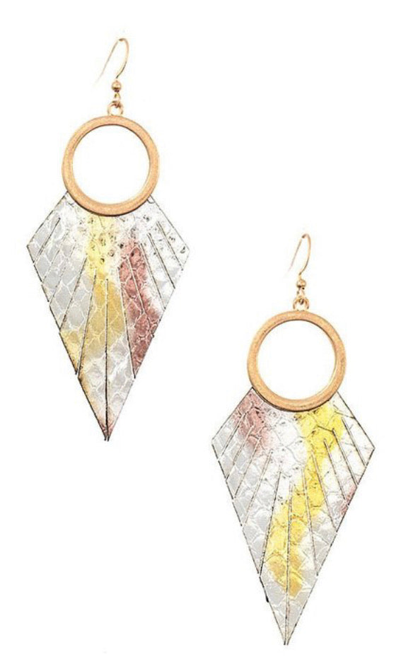 Silver Fringe Drop Earrings - Inward Beauty Boutique