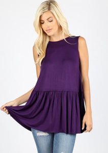 Bold in Plum Tank - Inward Beauty Boutique