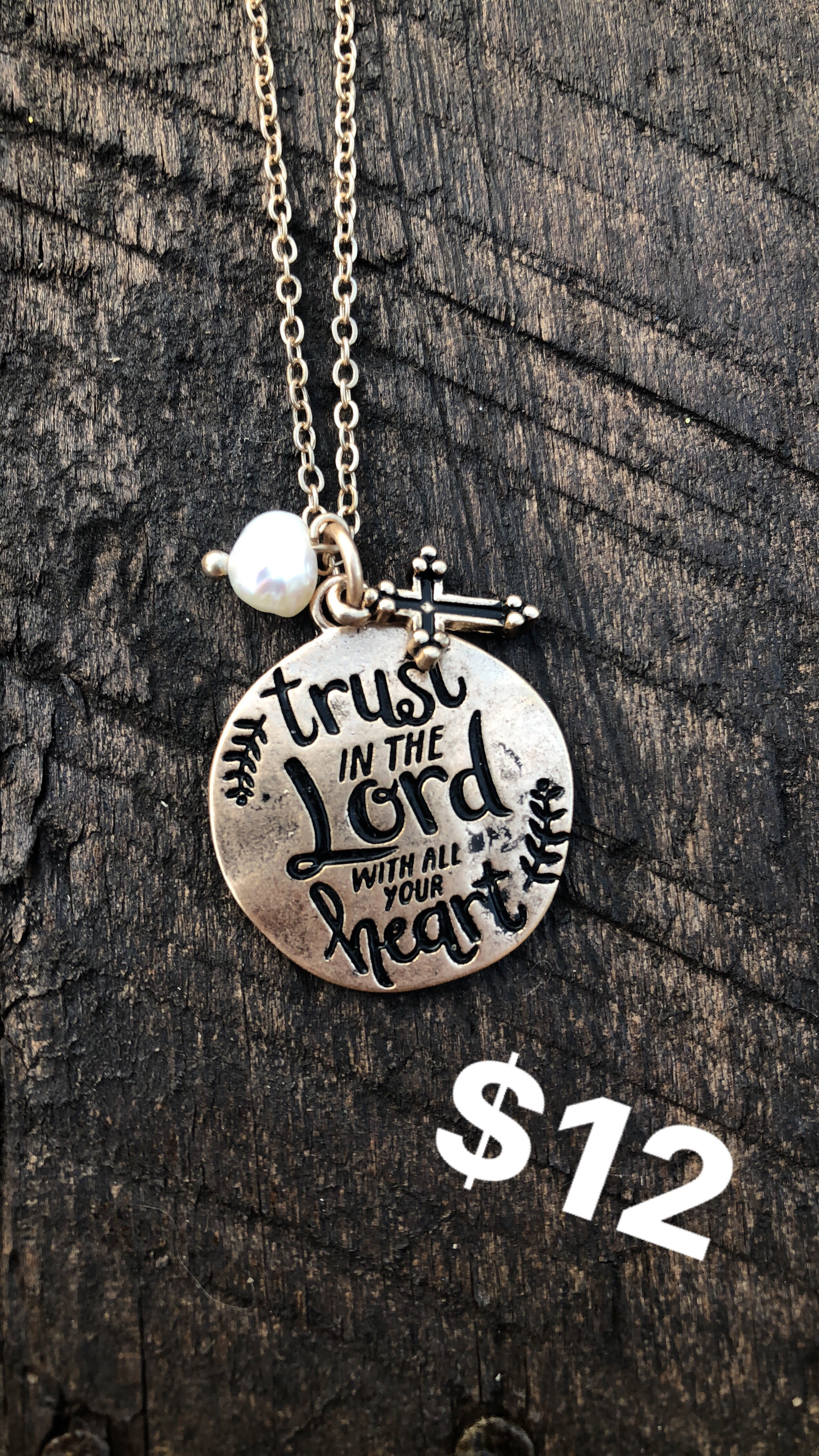 Trust in the Lord Necklace - Inward Beauty Boutique