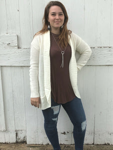 Cover me Up Cardigan (Ivory) - Inward Beauty Boutique