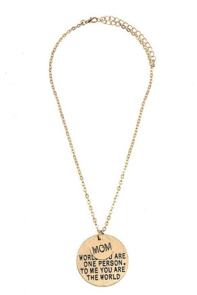 Mom is my world Necklace - Inward Beauty Boutique