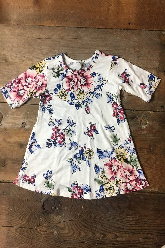 Ivory Floral Top - Inward Beauty Boutique