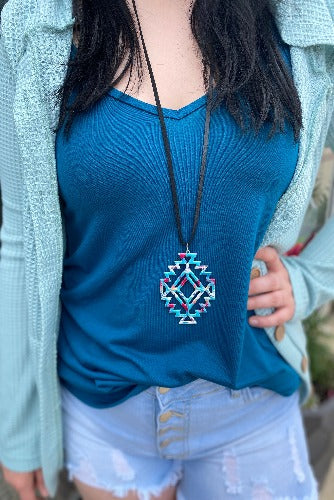 Trendy in Teal Top - Inward Beauty Boutique