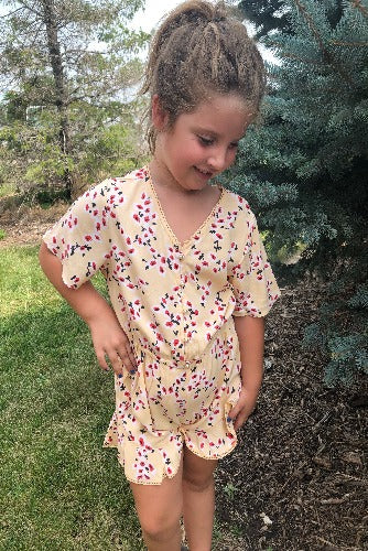 Pearls & Floral Romper - Inward Beauty Boutique