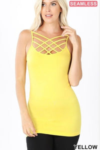 Yellow Twisted Tank - Inward Beauty Boutique