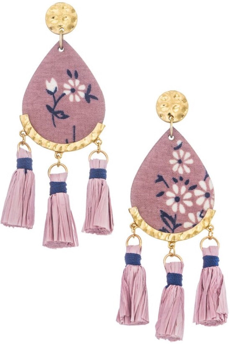 Flower & Tassels Earrings - Inward Beauty Boutique