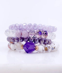 Lavender Bracelet Set - Inward Beauty Boutique