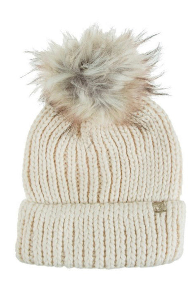 Oatmeal Cuffed Beanie - Inward Beauty Boutique