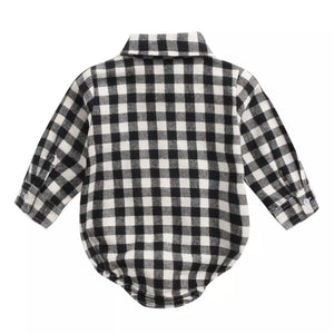 Black Plaid Onsie - Inward Beauty Boutique
