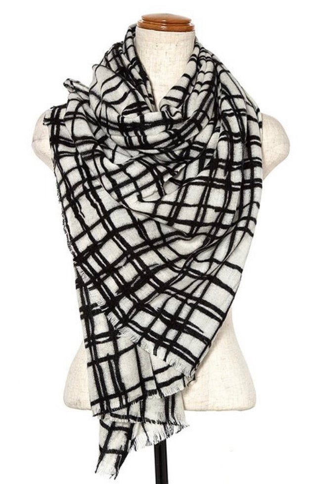 Young at Heart Plaid Scarf - Inward Beauty Boutique