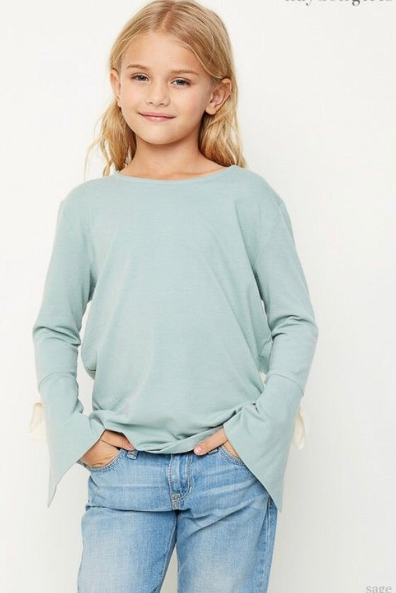 Macie Bow Top {Girls} - Inward Beauty Boutique