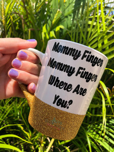 Mommy Finger Glitter Mug