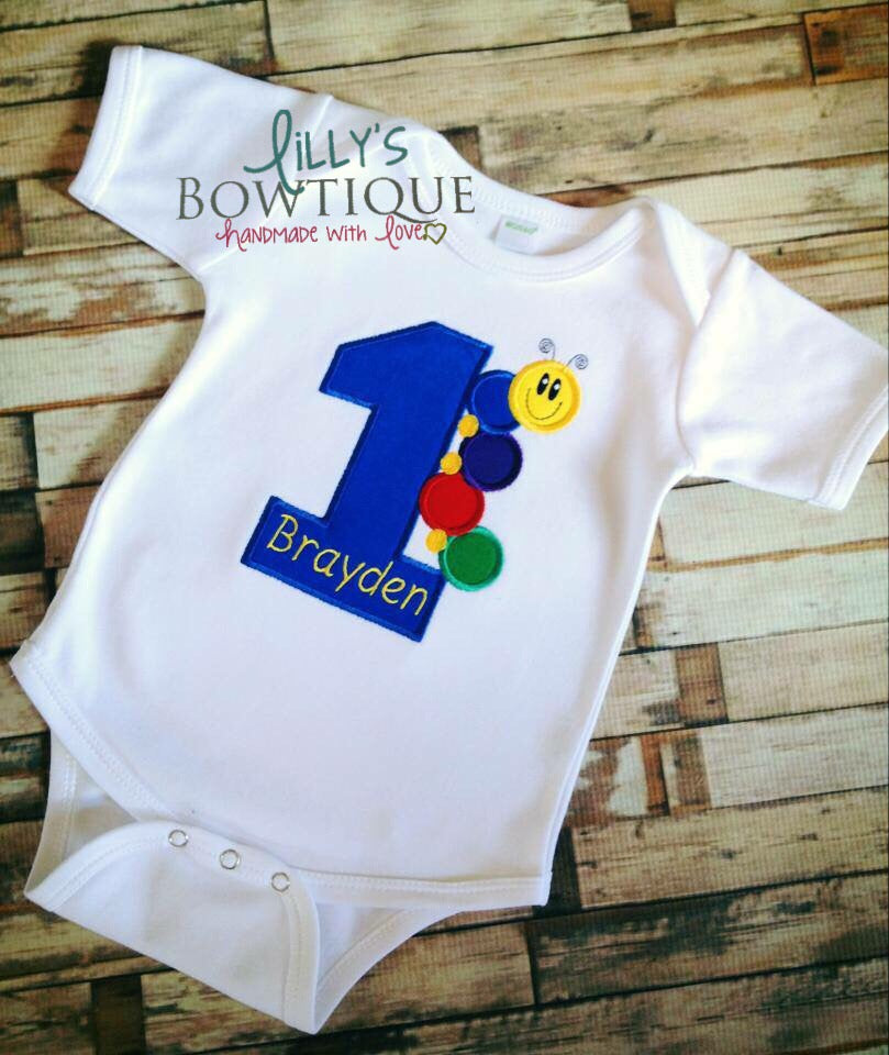 Baby Einstein Embroidered First Birthday Onesie/Shirt