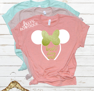 Glitter Best Day Ever Mouse Ears Tee