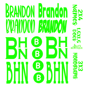 Monogram Decal Sale