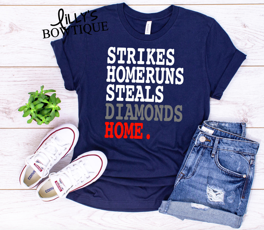 Strikes Homeruns Steals Diamonds Home.