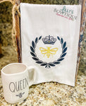 Queen Bee Embroidered Dish Towel