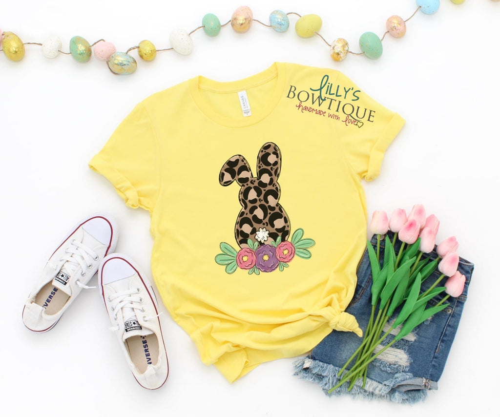 Floral Leopard Bunny Tee