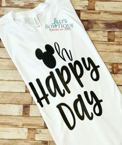 Oh Happy Day Mickey Inspired Tee